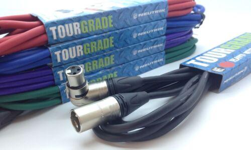 Neutrik Angled Female XLR to Male XLR Active Powered Speaker Cable Audio Lead
