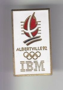 RARE-PINS-PIN-039-S-OLYMPIQUE-OLYMPIC-ALBERTVILLE-1992-IBM-FRANCE-OR-N-2-1991-17
