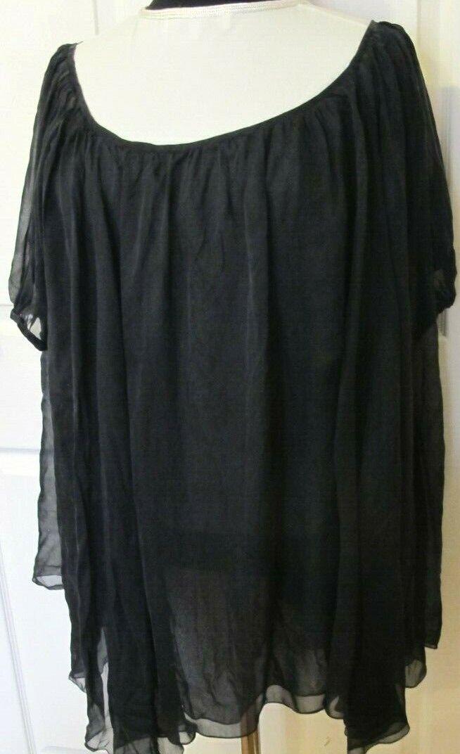 Thomas Wylde Negro  Top azulsa de seda-TALLA L-XL  tienda en linea