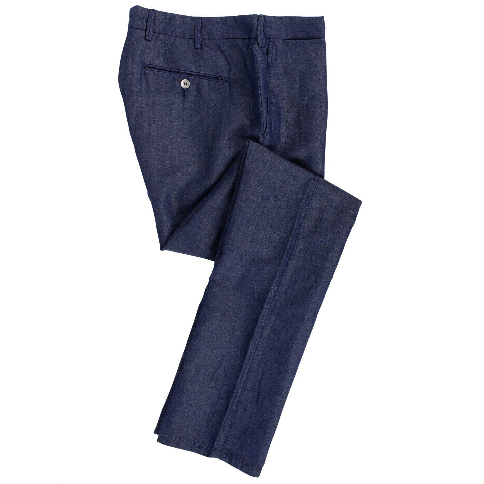 Neu Pal Zileri Konzept Blau Baumwolle Mischung Anzughose Größe