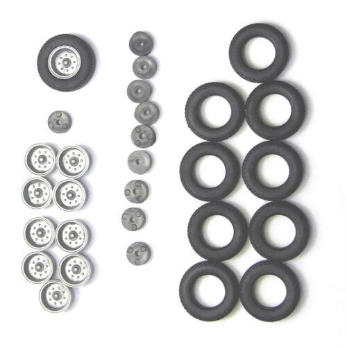 E5 Felgen silber H0 2x Radsatz Hochdruckbereifung Anhänger HW80 90 0002 04