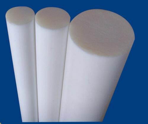 "8 mm Diameter X 250 MM Long 10/"" X 5//16/"" QUALITY TEFLON  WHITE TEFLON ROD"