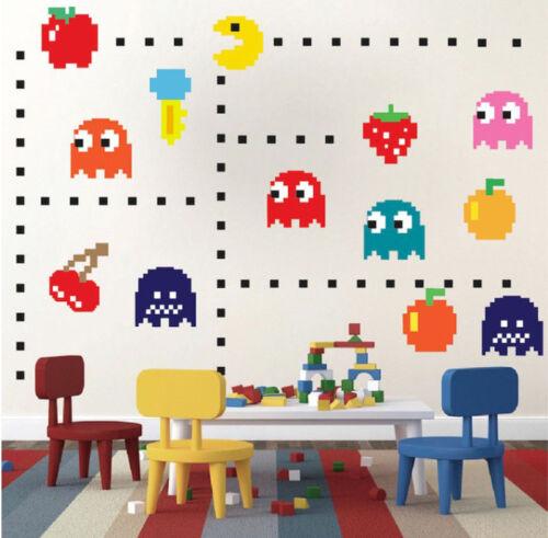 Retro Game Cartoon Wall Art Sticker Removable Nursery Decor Kid Decal Mural DIY