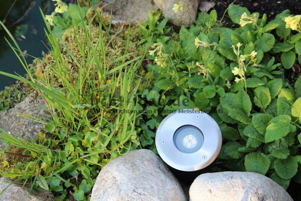 Edelstahl LED Bodeneinbaustrahler Bodenleuchte durchschleifbar Osram LED 17531