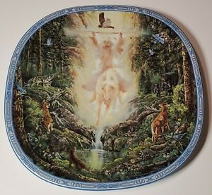 1994-Visions-of-the-Sacred-034-Spring-039-s-Messenger-034-collector-plate-Native-American