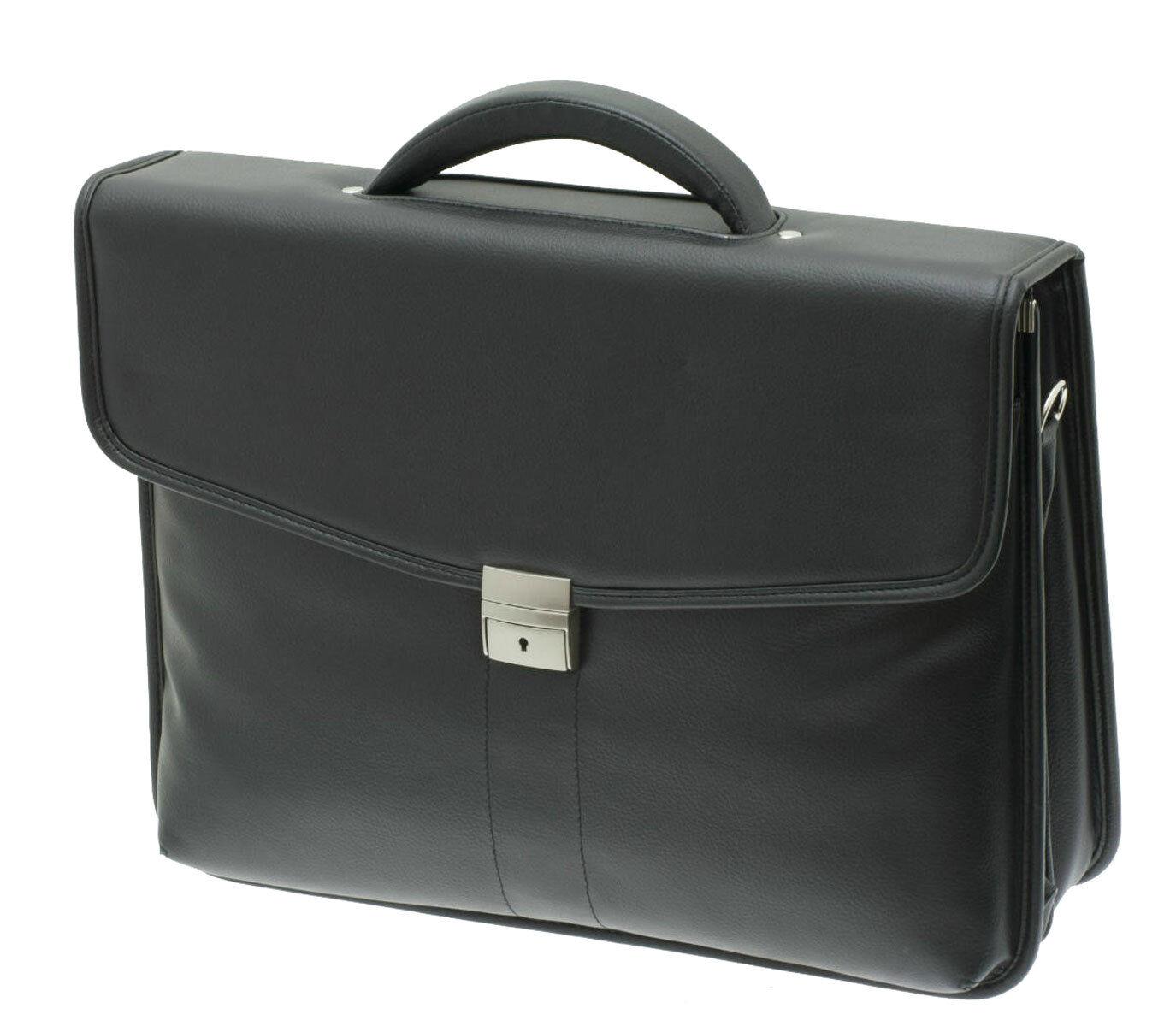 Arbeits Akten Schulter Tasche Querformat 43x33x20cm Groß Schwarz Davidts Bowatex | Elegantes und robustes Menü  | Große Klassifizierung  | Fairer Preis