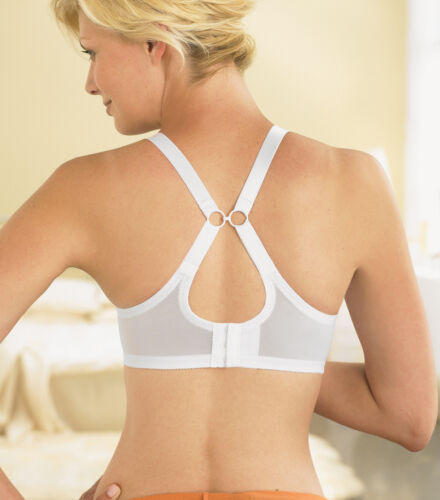 GLAMORISE Bra STRETCH 2-In-1 CONVERTIBLE Straps ~QUICK DRY~ White Lace NEW $40