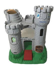 Vintage-Fisher-Price-Great-Adventures-Medieval-Castle-amp-Knights-Set-7110-1994
