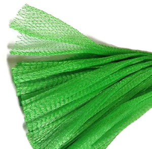 """15/"""" Green Reusable poly Mesh Produce Grocery net Bags Fruit Vegetable Storage"""