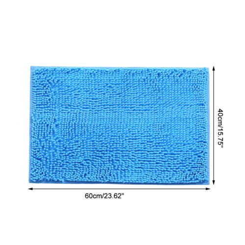 Mikrofaser Bad Teppiche Chenille Plüsch Bodenmatte Teppich Weiches Innen R0V2