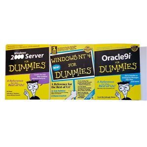 Windows-2000-Server-amp-Windows-NT-4-amp-Oracle9i-For-Dummies-3-Book-Lot