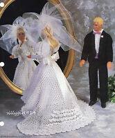 bride & Groomcrochet Patternpattern Only Fits Barbie & Ken Fashion Doll