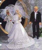 bride & Groomcrochet Patternpattern Only Fits Barbie & Ken Fashion Doll