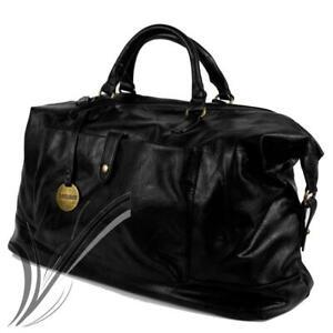Borsone nero uomo da viaggio con tracolla borsa vintage palestra dottore voli