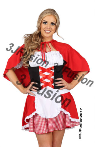 LADIES LITTLE RED RIDING HOOD STORYBOOK  Fancy Dress Costume FREE POSTAGE