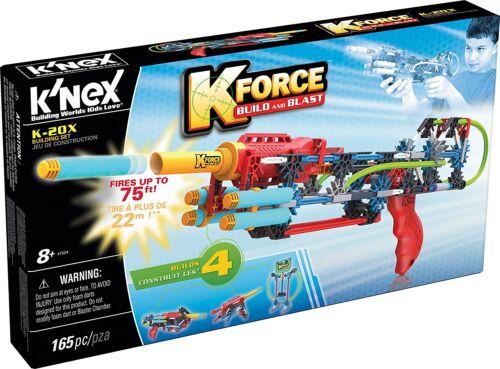 Kit de montaje 165 piezas KNex Kforce 41154 Pistola de dardos de foam K-20X