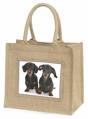 Zwei Süße Dackel Hunde Große Natürliche Jute-einkaufstasche Weihnachtsgeschenk,