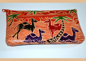 Genuine Leather Chemical Free Wallet Clutch Purse Shantiniketan Craft from India