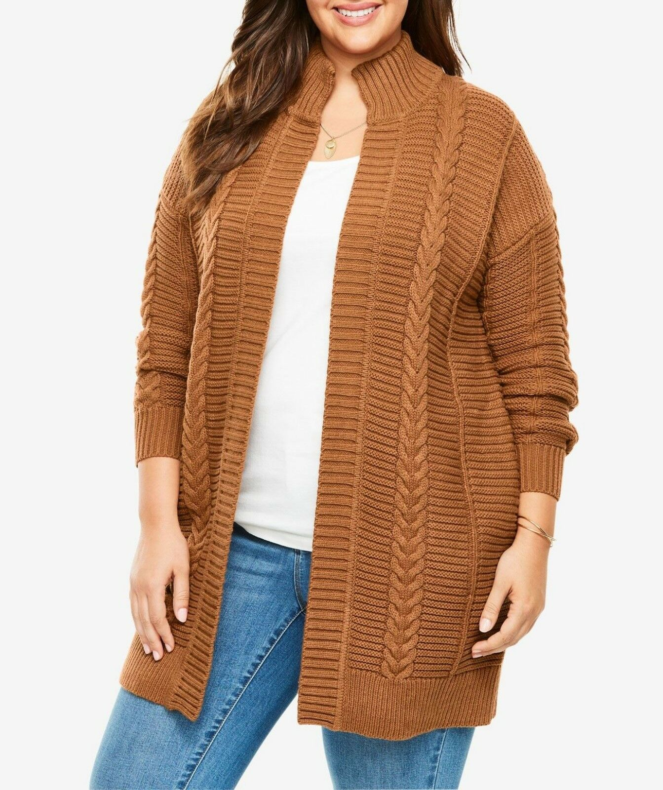 Woman Within Plus Size Ginger Knit Sweater Cardigan Size 4X(34 36)
