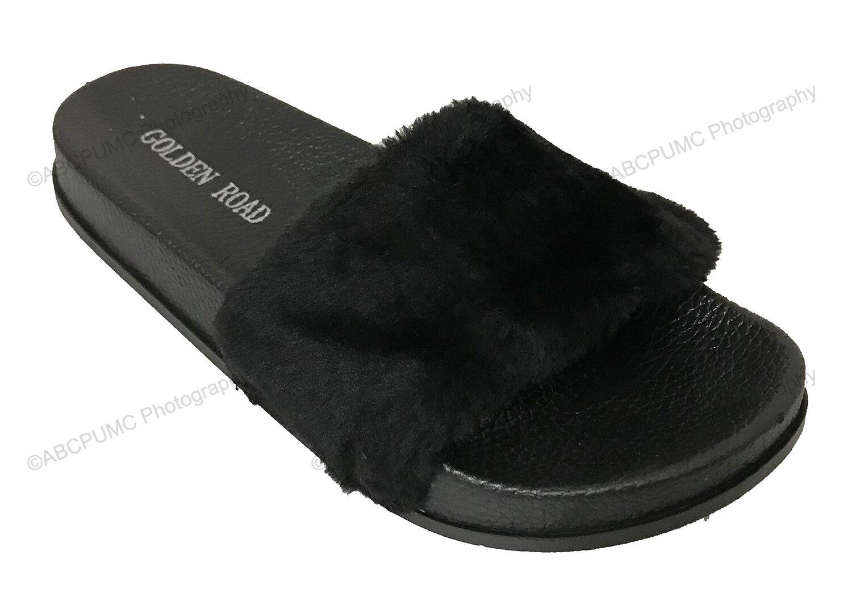 Kids Steve Madden Girls bbeacon Leather Slip On Slide Sandals