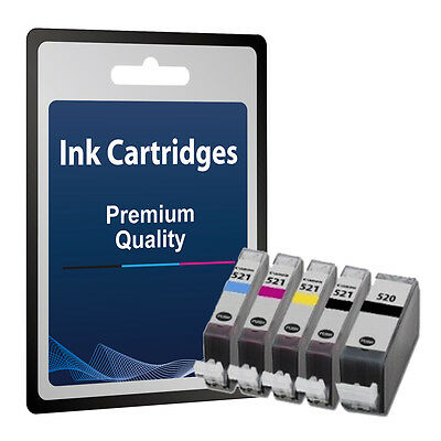 5 Chipped Ink Cartridges for Canon MP540 MP550 MP560