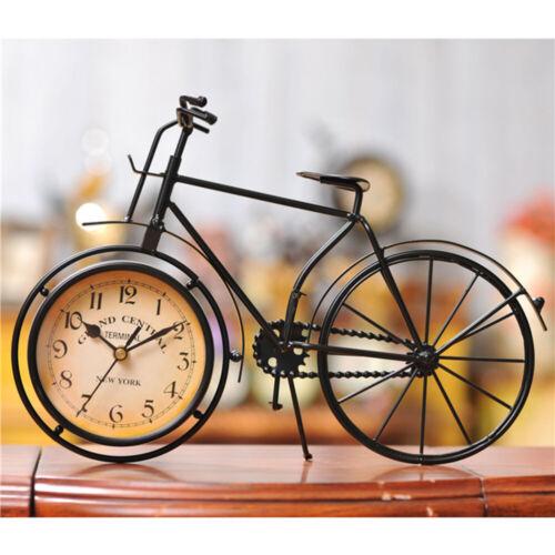 Clock Vintage Iron Bike Shape Mute Clock for Store Living Room Bedroom Hotel