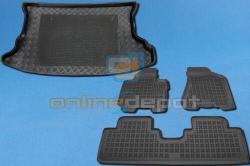 Gummi-Fußmatten+Kofferraumwanne KIA SPORTAGE 2 II 2004-2010 ohne Trenngitter