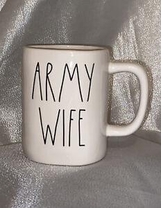 NEW-Rae-Dunn-USA-Military-Collection-By-Magenta-ARMY-WIFE-Farmhouse-Coffee-Mug