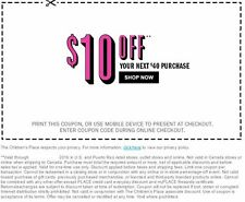 The Children's Place ... $10.00 OFF ... your purchase of $40 or more!