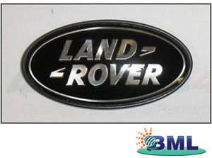LAND-ROVER-RANGE-ROVER-L322-OVAL-REAR-BODY-BADGE-BLACK-ON-SILVER-PART-DAH50033