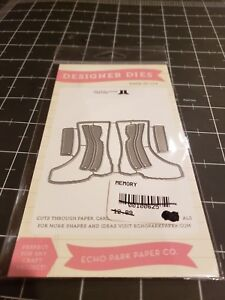 Echo-Park-paper-co-Designer-metal-die-Rainboots-New