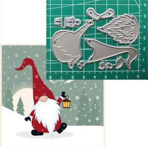 Stanzschablone-Weihnachtsmann-Hochzeit-Weihnachts-Oster-Geburstag-Karte-Album