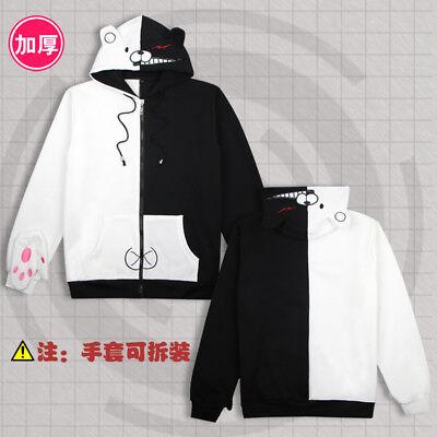 Anime hoodie jacket DANGANRONPA monokuma thick Cosplay Sweatshirt Sweater coat