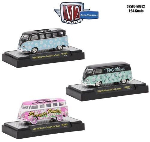 M2 Machines 1:64 Set of 3 VOLKSWAGEN VW M/&J Exclusive 32500-MJS02