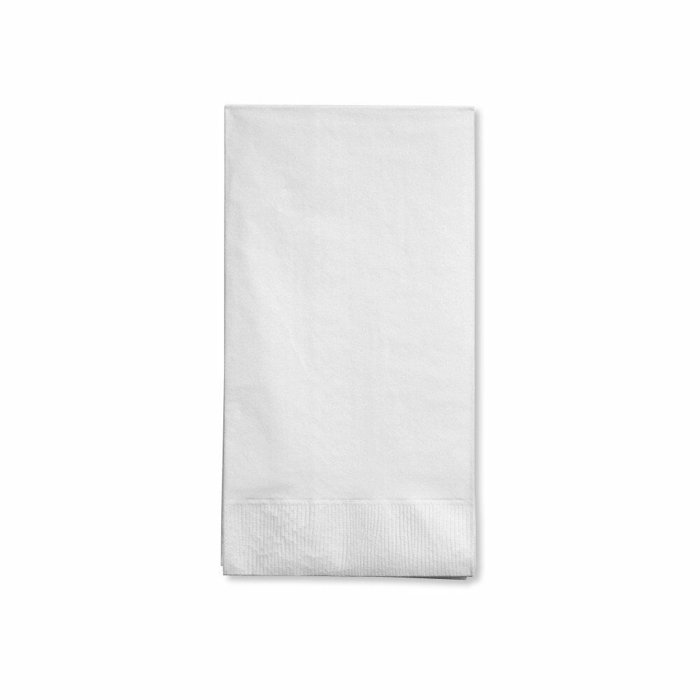 White Creative Converting Touch of Color 16 Count 3-Ply Paper Guest Napkins
