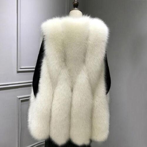 impreziosita di pelliccia donna volpe da maniche senza Cappotto in xYCwUtqtO