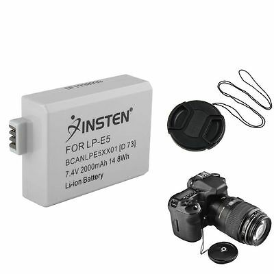 Battery+Cap+Keeper for Canon LP-E5 LPE5 Xsi 450D T1i