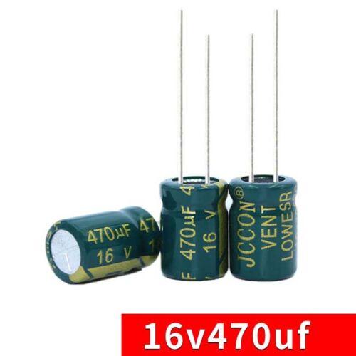 50PCS 16V 470uF Radial Aluminium Electrolytic Capacitors PCB 105°C 8x12mm