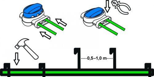 Erweiterungs-Set S Worx Landroid WR1* Kabel Haken Verbinder Erweiterung Paket