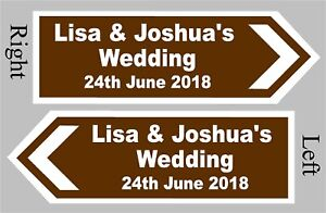 PERSONALISED-Wedding-Direction-Sign-Choice-of-Size-and-Colour-Event-Road-Sign