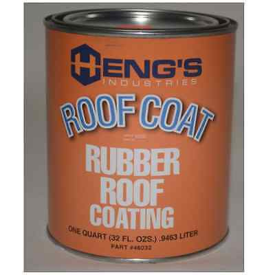 Rubber Roof Coating for RV / Camper / Trailer / Motorhome / 5th Wheel (Quart)