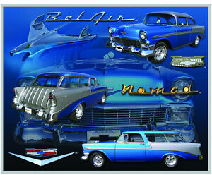 Details About Vintage Replica Tin Metal Sign Chevy Chevrolet Belair Nomad 1956 Gm Parts 98298