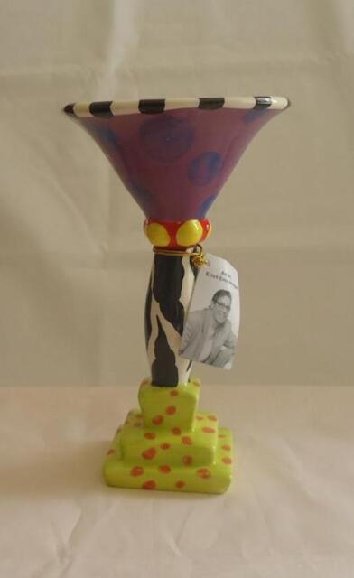 Erich Emmenegger 2007 Studio E Whimsical Purple Jester Wine Goblet NIB Retired