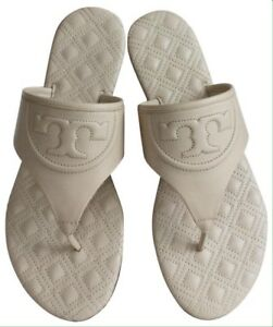 489674d63 Image is loading TORY-BURCH-FLEMING-QUILTED-LEATHER-FLIPFLOP-SANDALS-SHOES-