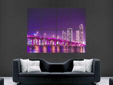 Florida Miami Vice City Puente muro de arte cartel impresión de foto Grandes Enormes