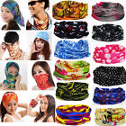 Hot Multi Purpose Head Face Mask Snood Bandana Neck Warmer Sport Scarf 60 Colors