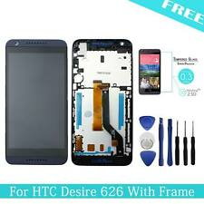 "For HTC Desire 626 5.0"" LCD Touch Screen Display Digitizer Assembly Blue + Frame"