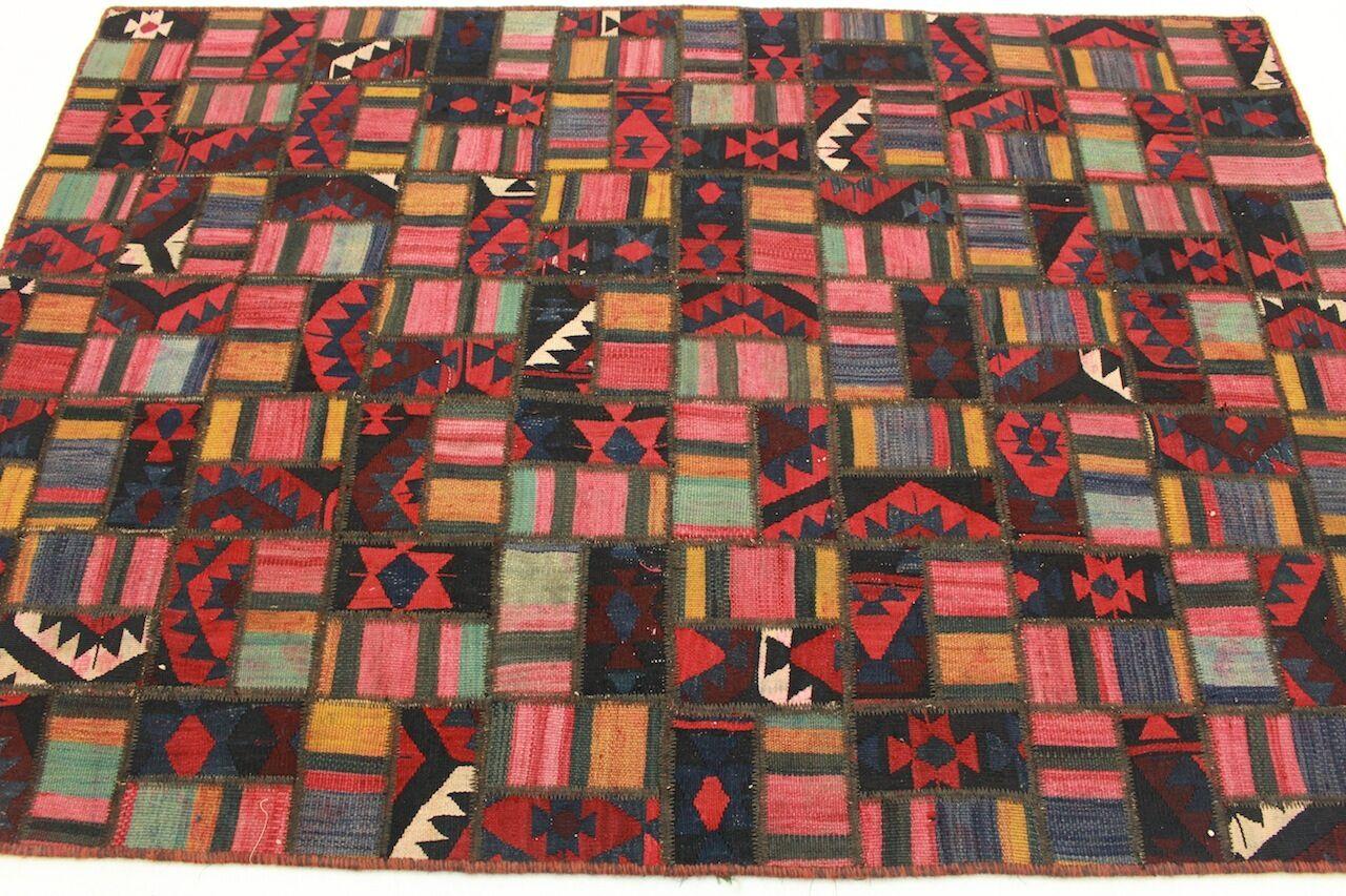 Tappeti Kilim Usati : Vintage patchwork tappeto orientale kilim look usato rosso moderno