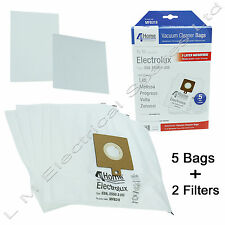 5 Microfibre Vacuum Hoover Bags + 2 Filters For Electrolux The Boss B3300 Z3300