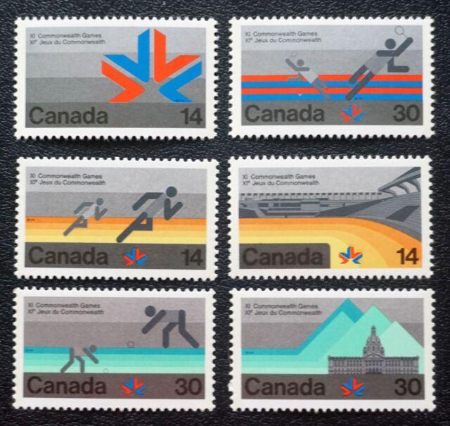Canada Sc# 757-762  EDMONTON COMMONWEALTH GAMES 1978 sports CPL set of 6   1978